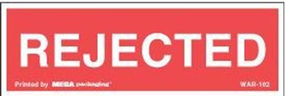 Picture of Rejected - Red Printed Labels