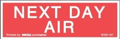 Picture of Next Day Air - Red Printed Labels