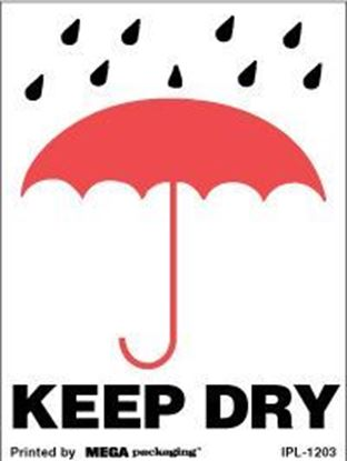 Picture of Keep Dry - Printed Label 3 x 4