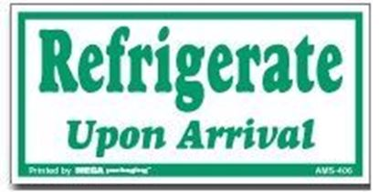 Picture of Refrigerate Upon Arrival - Green and White Printed Label