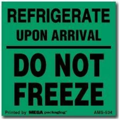 Picture of Refrigerate Upon Arrival Do Not Freeze - Printed Label