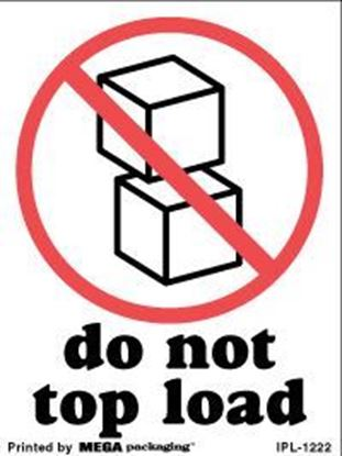 Picture of Do Not Top Load 3 x 4