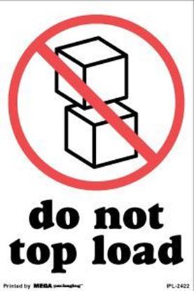 Picture of Do Not Top Load 4 x 6