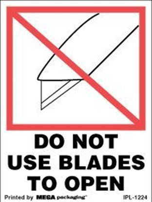 Picture of Do Not Use Blades To Open 3 x 4